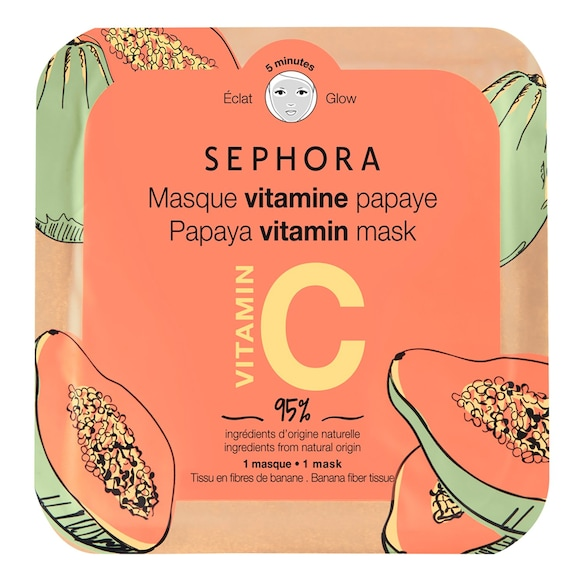 Vitamin face mask Fabric face mask, SEPHORA COLLECTION